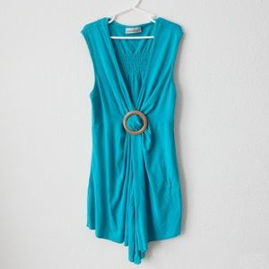 Turquoise top by Clockhouse